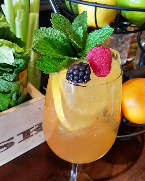 Saturday morning brunch of sangria and mimosas  |  Instagram @_thelocal150