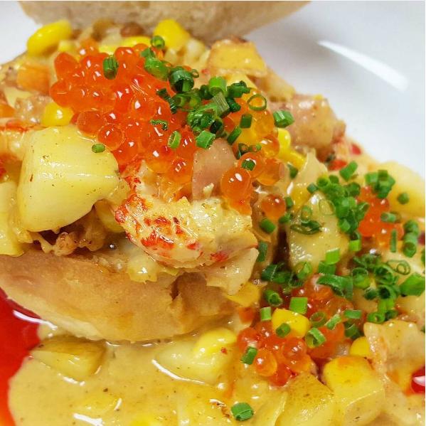 Appalachian corn chowder with crawfish | Instagram @_thelocal150