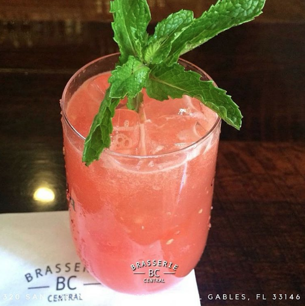 Tangy watermelon with mint  |  Instagram, @brasseriecentralmiami