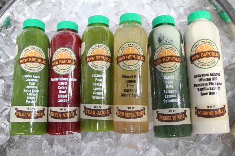 Raw juice selection | Raw Republic