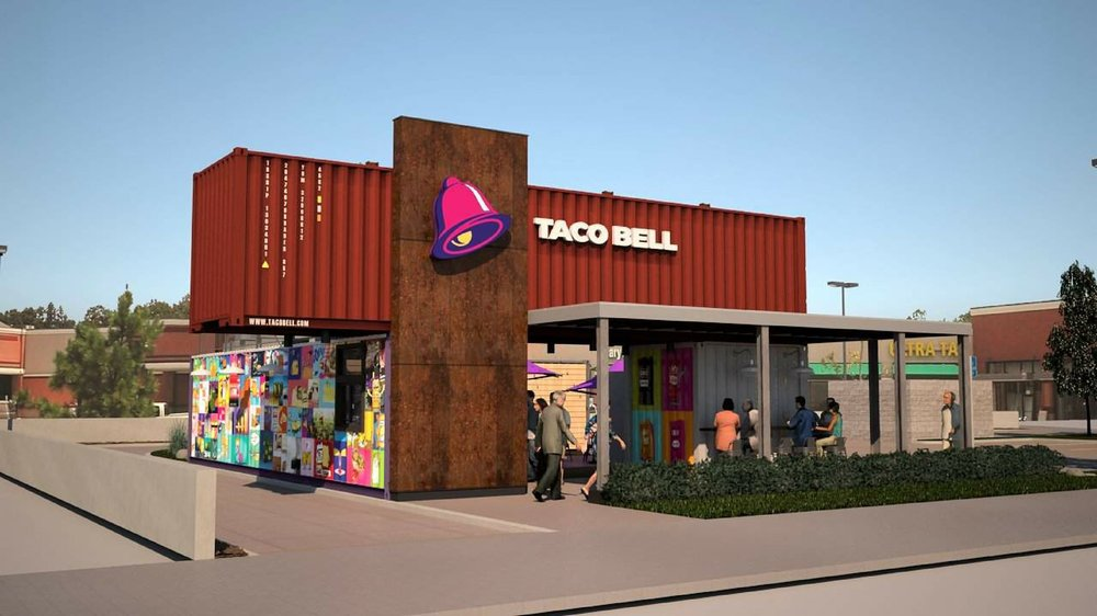 Taco Bell Rings In New Shipping Container Designed Restaurant