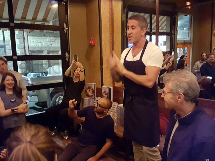 Chef Michael Solomonov introducing Israeli baker Uri Scheft |   Photo Courtesy of Jim Berman