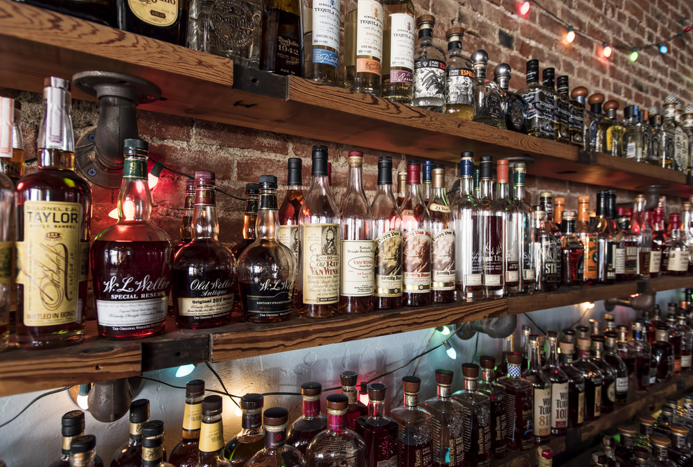 Part of the spirits selection at Silver Dollar Bar in Louisville; Courtesy of Silver Dollar Bar