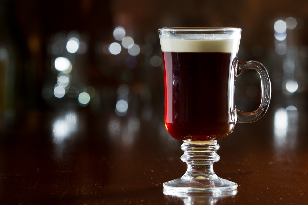 Traditional Irish Coffee; Shutterstock