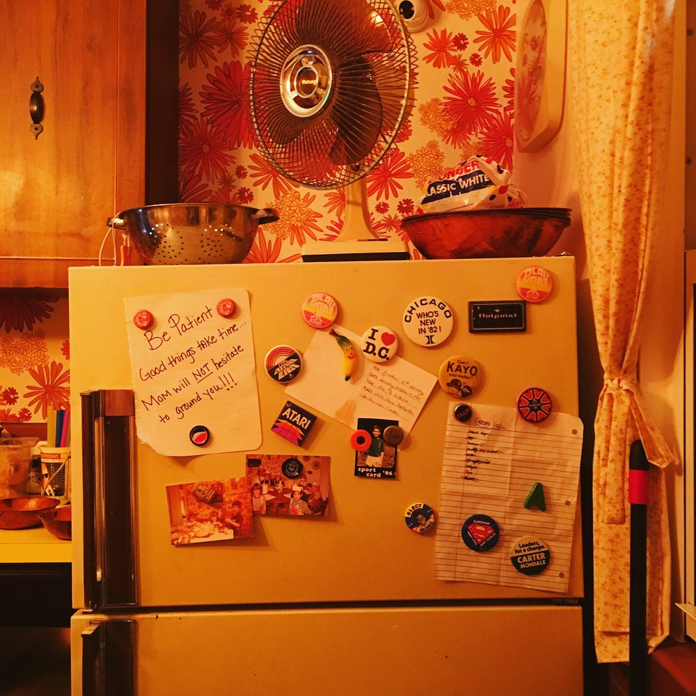 Vicky's House décor inspired by Matthew Kuscher's childhood kitchen  | Photo Courtesy of Elena Vivas