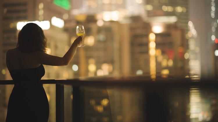 female toasting