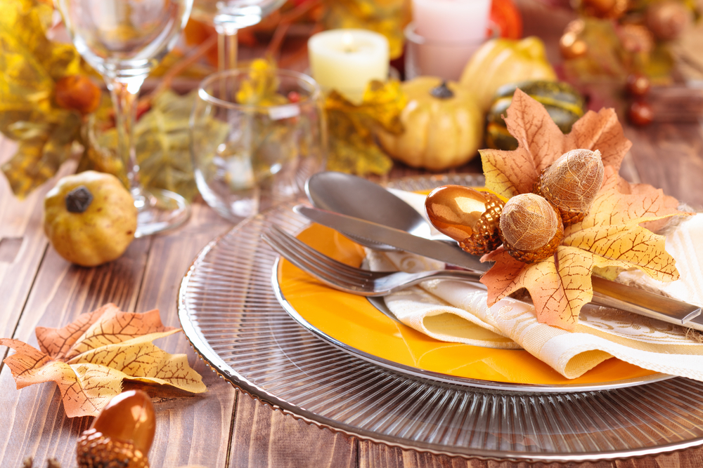 Thanksgiving Plate set decoration