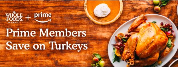 Amazon's banner promoting Turkey special |  Amazon.com