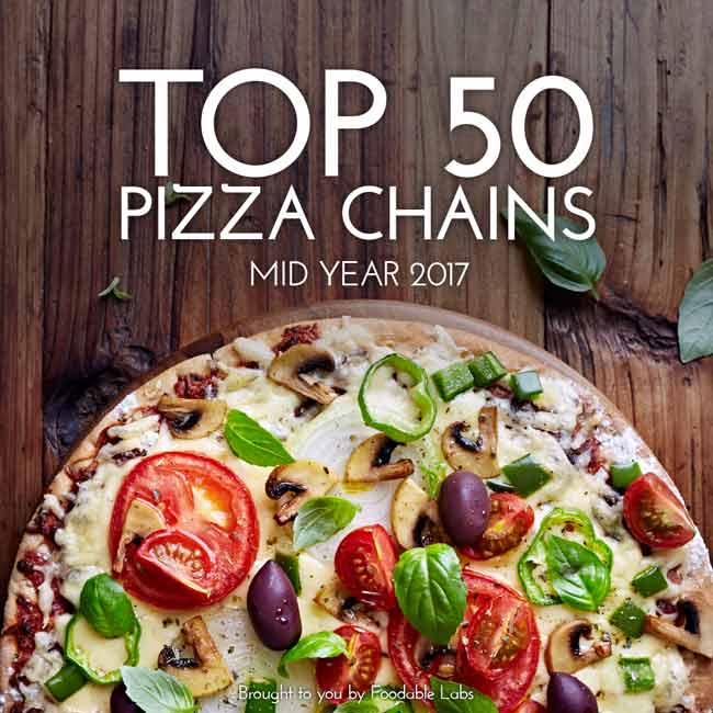 TOP 50 PIZZA CHAINS MID YEAR 2017 REPORT  $49.99