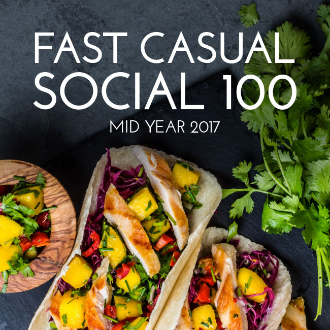 Fast Casual Social 100 Mid Year 2017