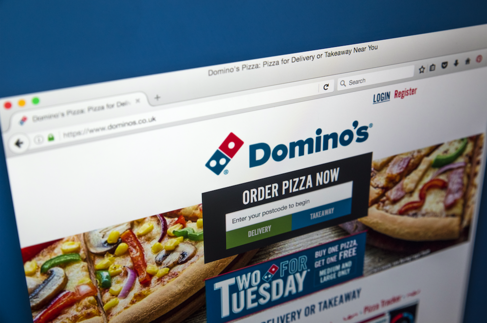 Domino's homepage