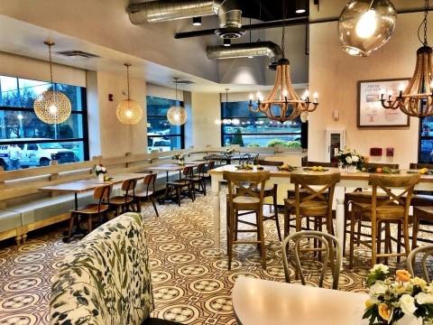 Zoes Kitchen new interior design |  BusinessWire