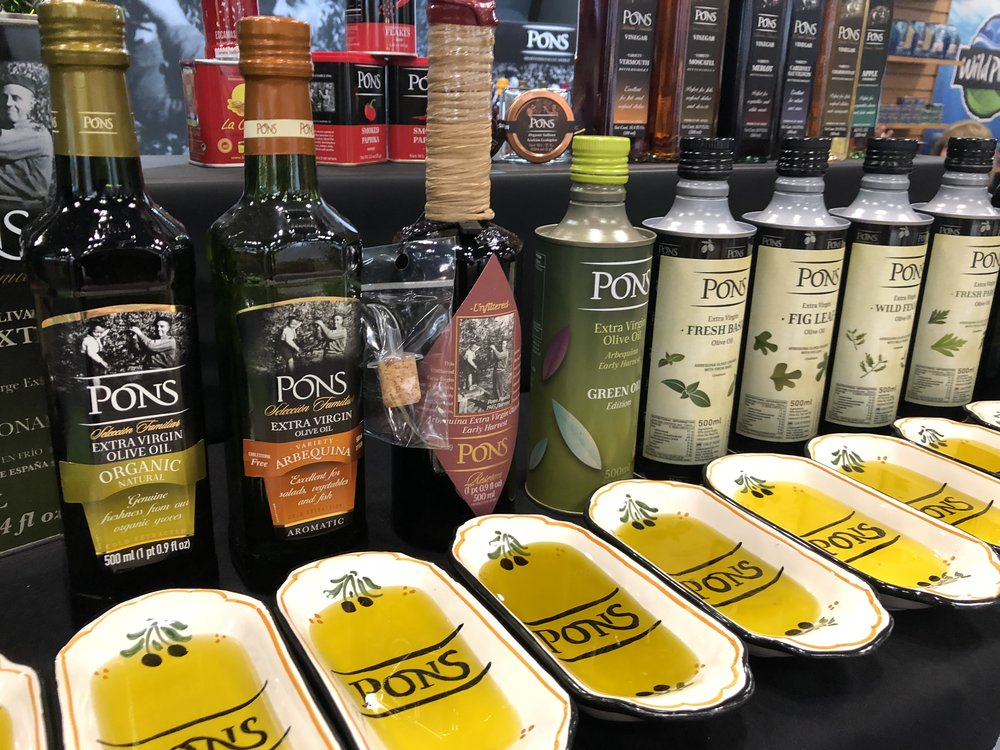 PONS olive oil at the 2018 Summer Fancy Food Show |  Foodable Network