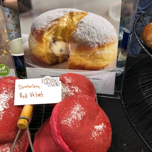 Forno d'Asolo's Red Velvet Bombolone At The 2018 Summer Fancy Foods Show |  Foodable Network