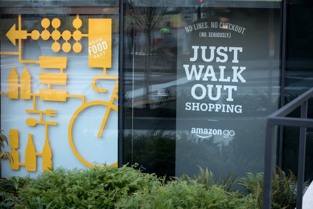 Signage at an Amazon Go Store in Seattle |   Shutterstock