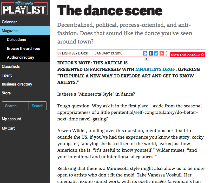 Minnesota Playlist.com The Dance Scene.png