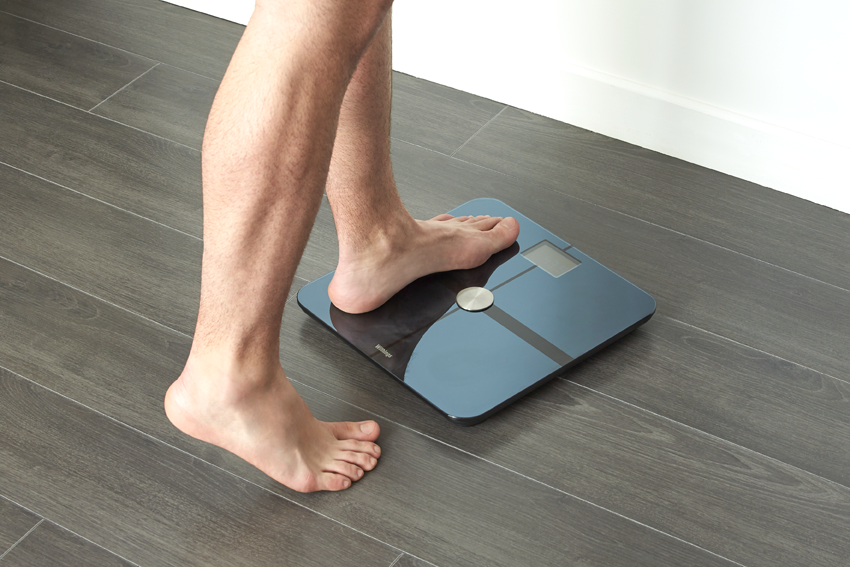 The Withings Smart Body Analyzer ($149.95) scale measures not just weight, but also body fat, heart rate, and indoor air quality -- and wirelessly sends the data to your phone!