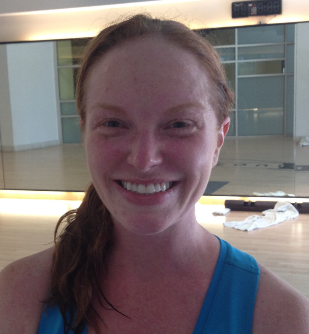 Who looks this good (or happy) after teaching a really hard workout? Amy Dixon, apparently.