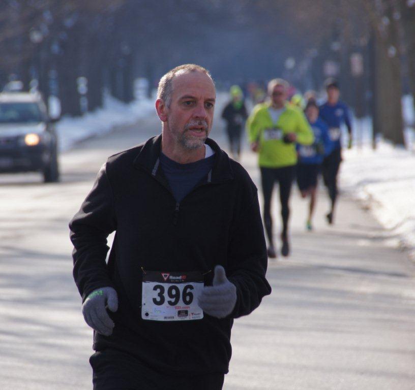 Nigel at the 2013 Penguin Run 5K.