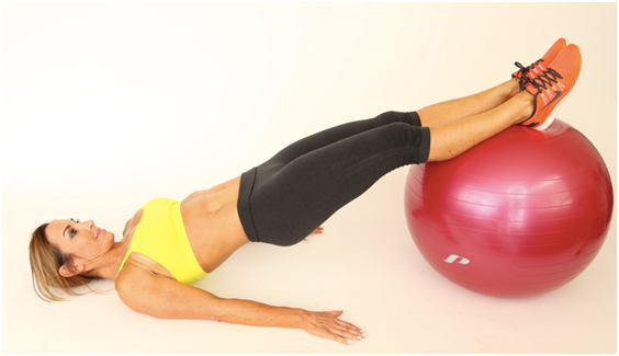 You don't need to do a lot of these Stability Ball Hamstrings Curls to get the benefit.
