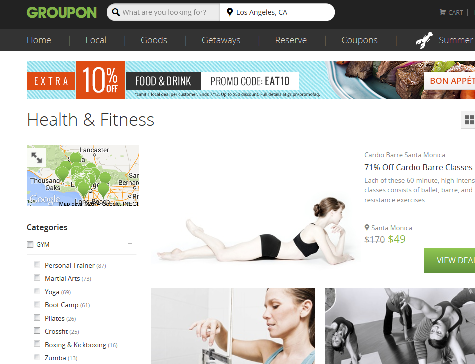 Have you bought any Groupons for exercise?