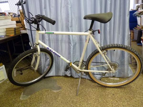 Bidding on ShopGoodwill.org started at just five bucks for this Raleigh bike!