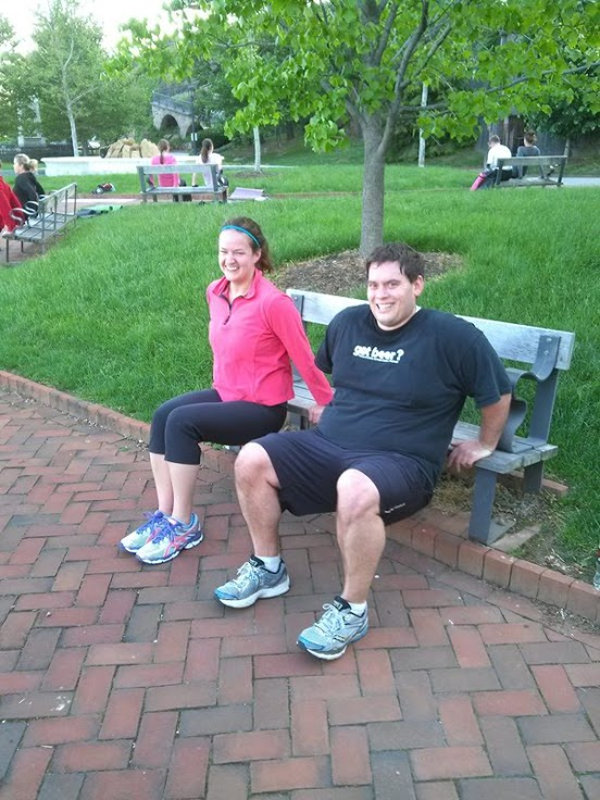 Bench triceps go easier when you do them with your better half.