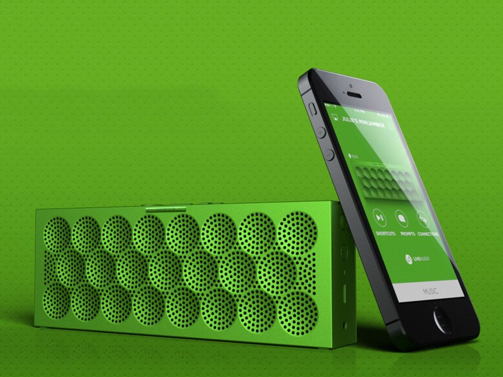 Mini Jambox with the Jawbone companion app