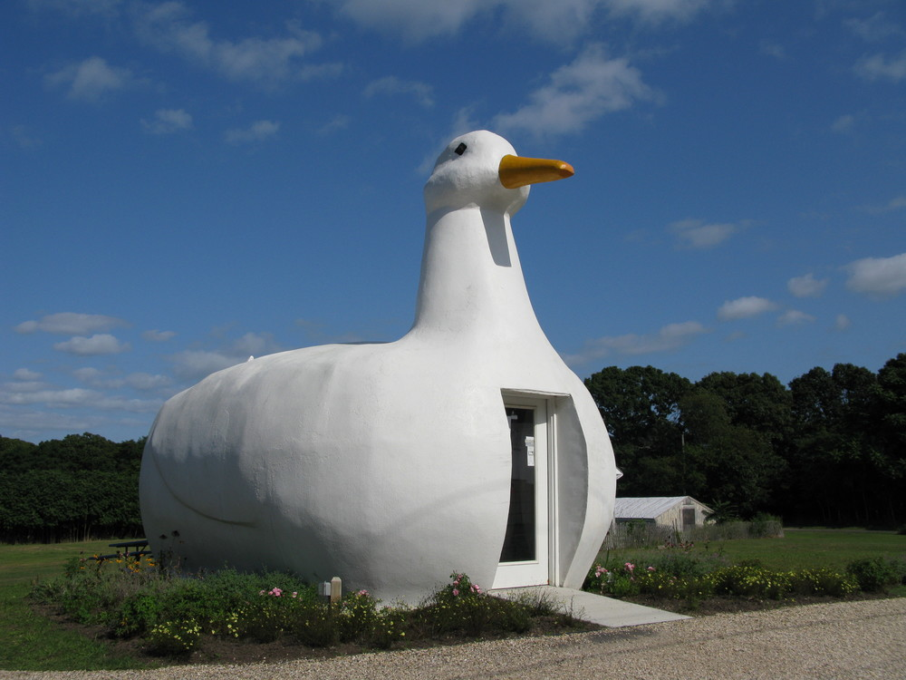 The Big Duck in Flanders, New York