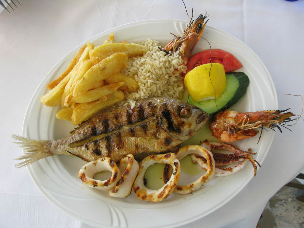 Beautiful meal in Greece