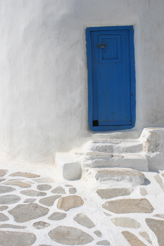 Blue door, Mykonos Greece