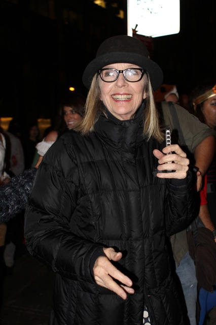 Diane Keaton taking pictures with her cell phone!  ©2013 Rita Rivera