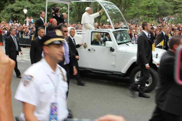 The Pope in Central Park
