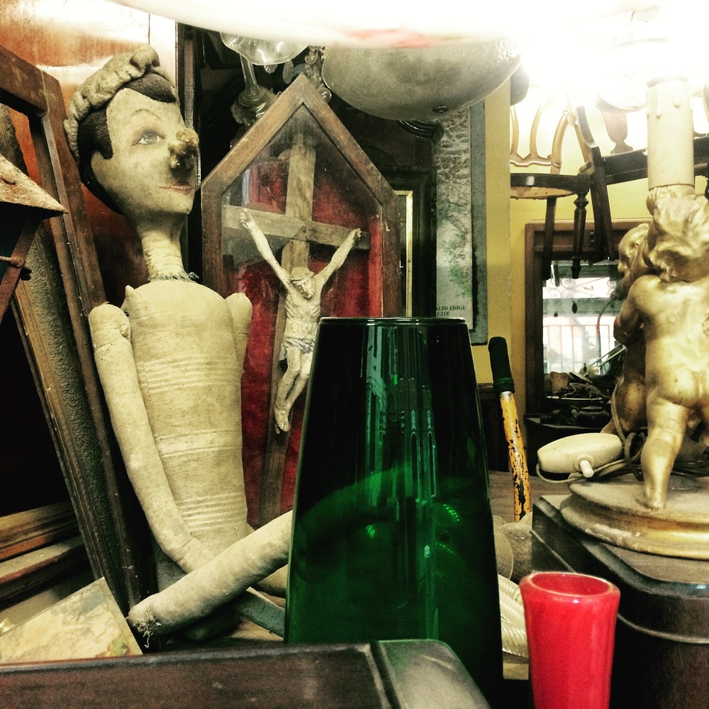 Antique shop window in Venice, Italy