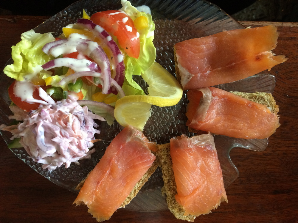 Lunch is served, smoked salmon in Ireland