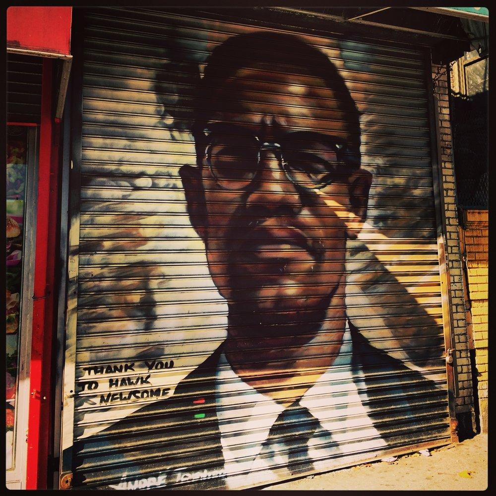 Malcolm X mural, Bronx NY