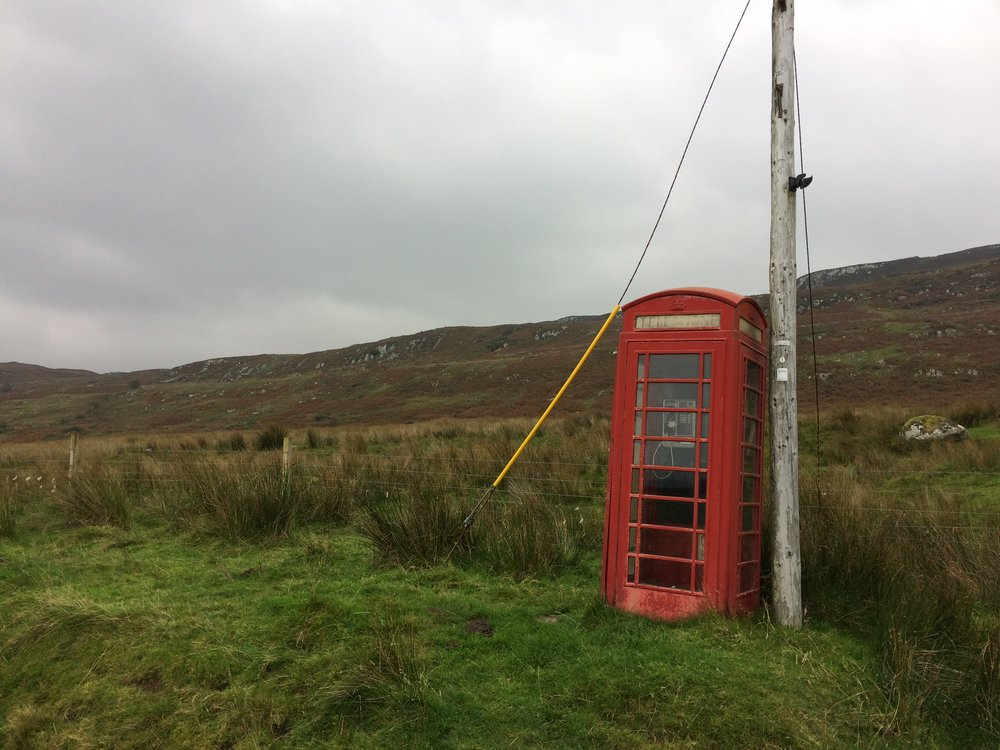 Phone in the middle of nowhere, Scotland