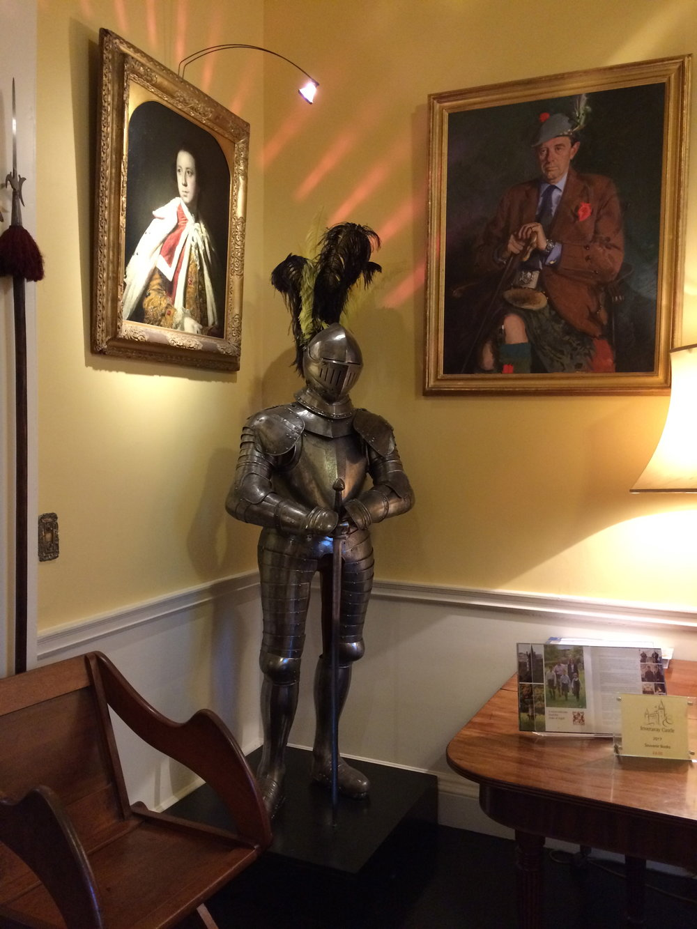 Suit of armor at Inverary Castle, Scotland