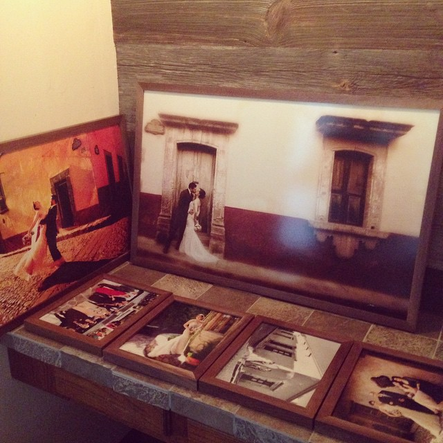 Custom walnut frames for these beautiful people!  Hope you like them @gloriahein @eguerra0783  #HunterWagnerDesigns #wood #woodworking #walnut #wedding #HappyAnniversary #handmade