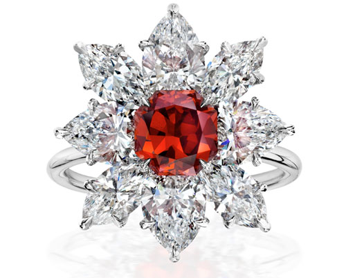 Image credit: Scarselli Diamonds. The Ember Diamond, the largest reddish-orange diamond recognized by the GIA. http://www.scarselli.com/