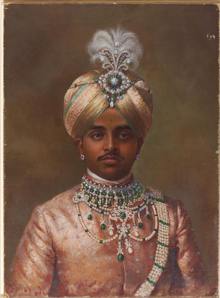 Bejeweled Maharaja of Mysore. © V&A Images/Victoria and Albert Museum, London.