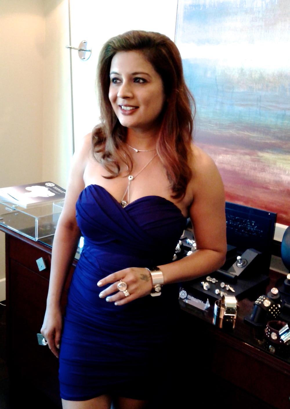 Reena Ahluwalia at JCK Las Vegas show 2013.