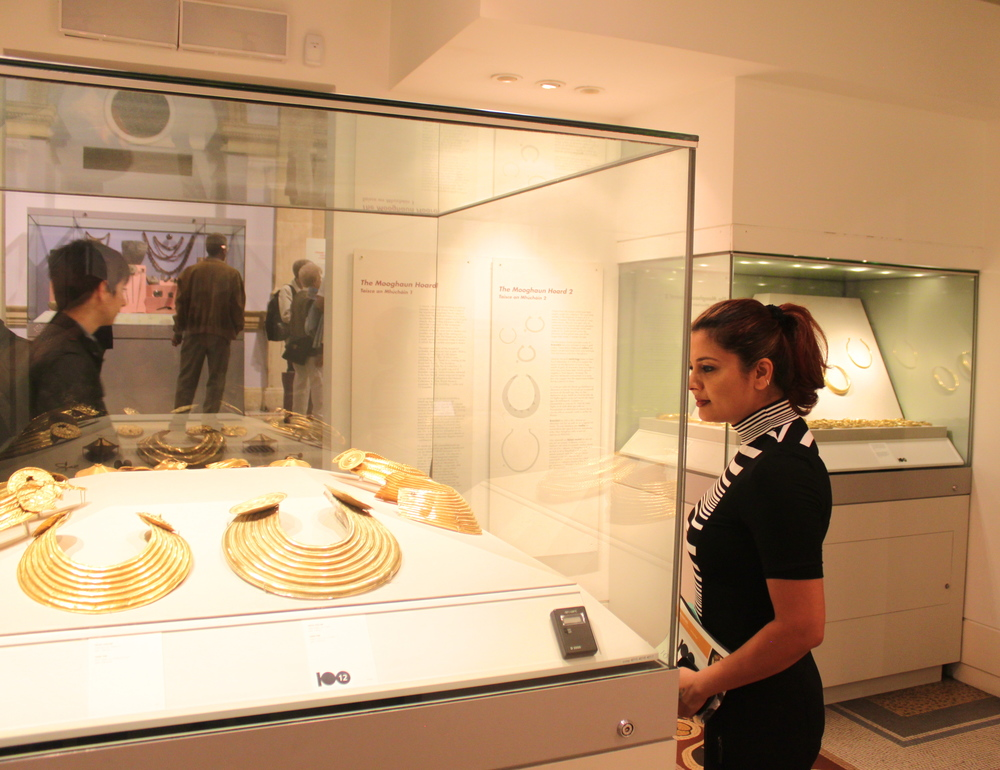 Reena Ahluwalia at the National Museum of Ireland - Archaeology. Dublin
