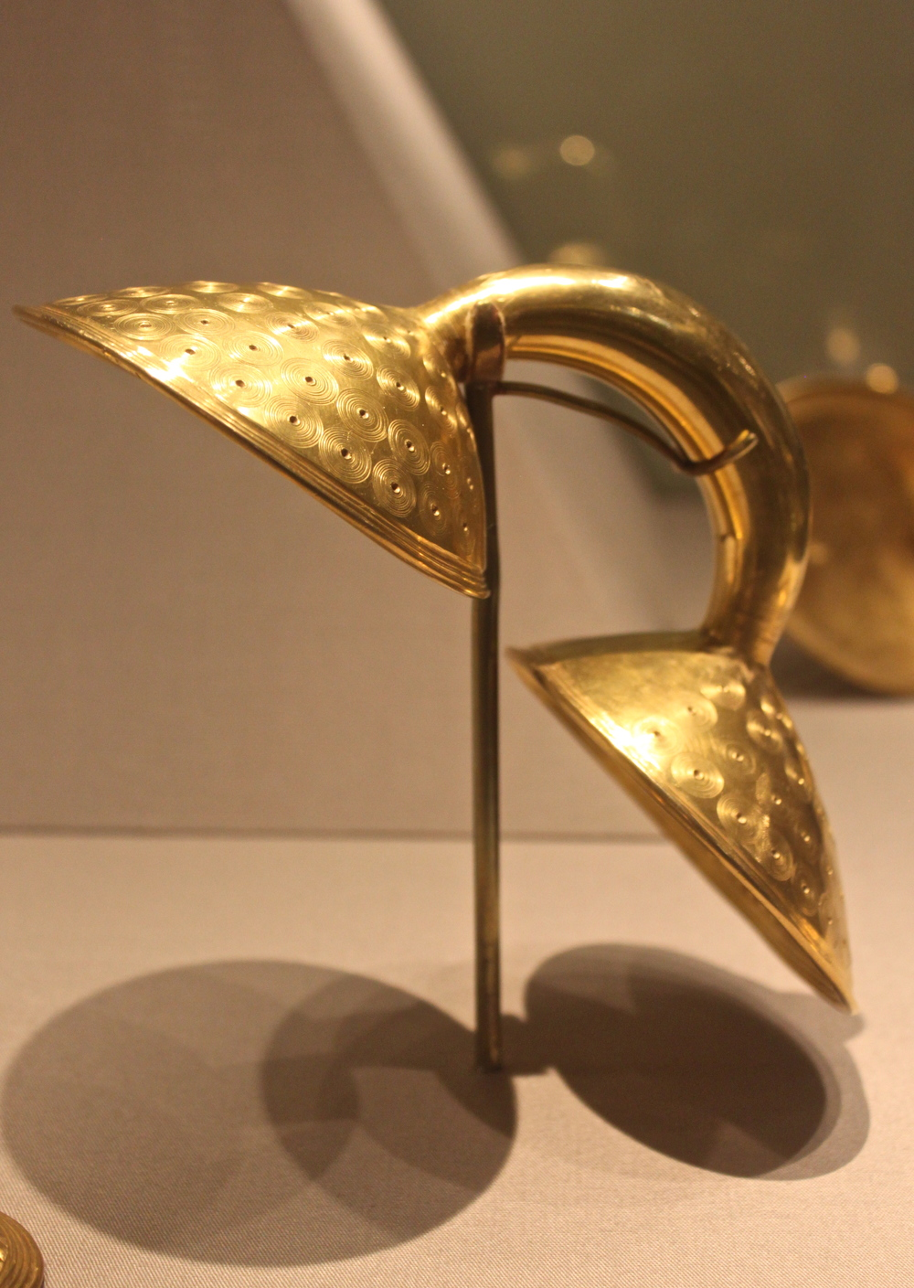 Gold Dress Fastener. Clones. County, Monaghan. Ireland. 800-700 BC.