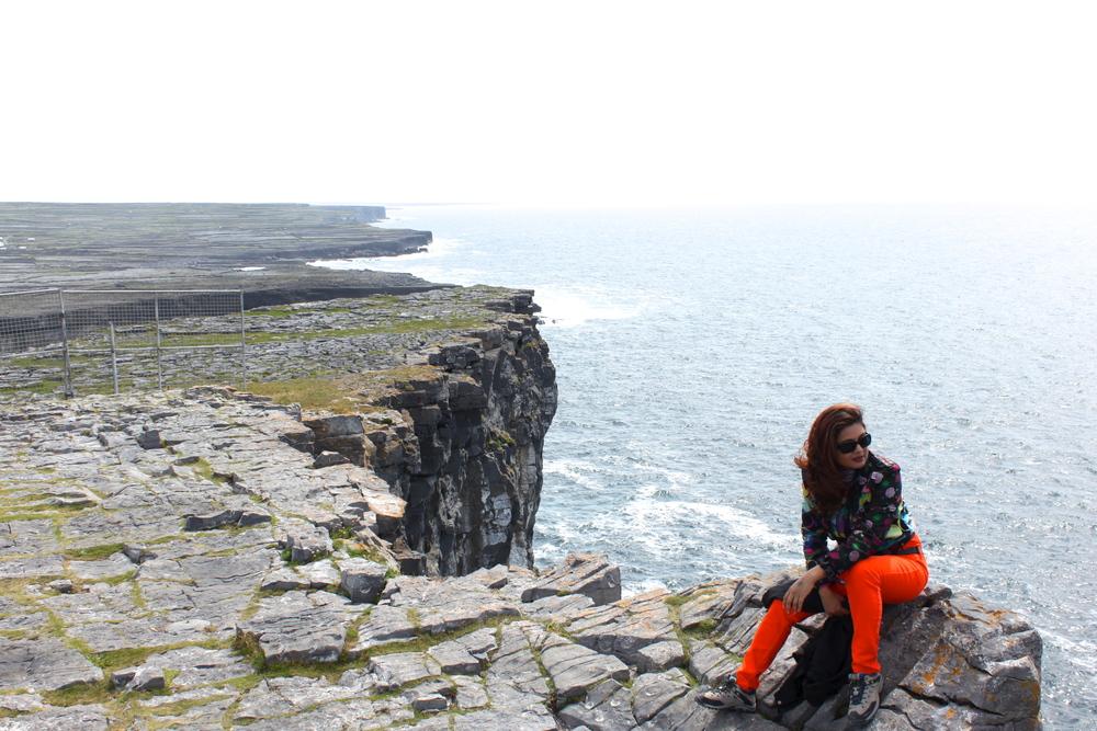 Designer Reena Ahluwalia at Aran Island. Ireland. 2013