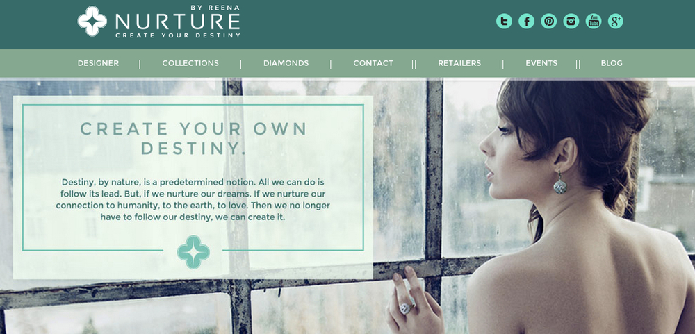 Launched!  NURTURE BY REENA, world's first designer-led jewelry brand that exclusively features lab-grown diamonds and merges it with wearable technology and fashion!    http://www.nurturebyreena.com/