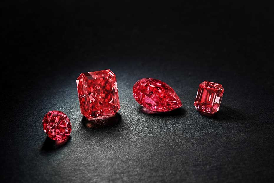The Argyle Pink Diamonds 2014 Tender Fancy Red collection will be the highlight of Rio Tinto's annual Pink Diamonds Tender, which this year comprises 55 diamonds. Image: Rio Tinto Diamonds
