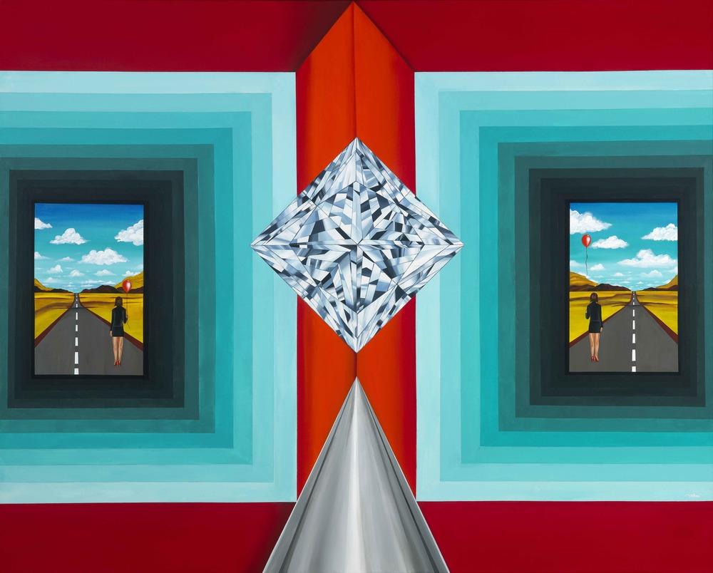 "'The Portal of Decisions'. 60""x48"" (5x4 feet). Acrylic on Canvas. ©Reena Ahluwalia"