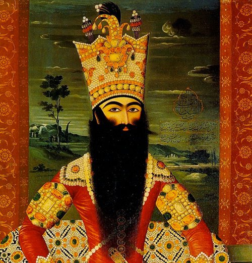 The   Qajar   Imperial crown or Kayanid crown was rather high and heavy, entirely covered with priceless pearls and precious stones.