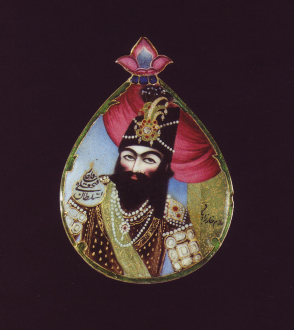 Baqir, portrait miniature of Fath 'Ali Shah, early 19th century